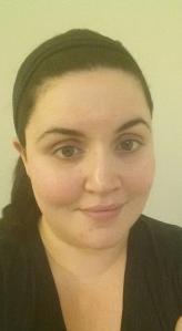 Me with no make up on. I am just wearing a moisturizer I like- no primer.