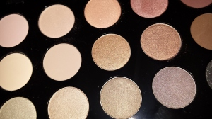 MAC eye shadow palette in cool neutral.