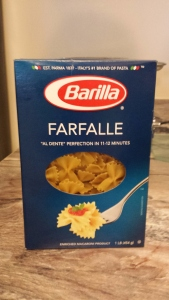 The pasta. We do Barilla Plus a lot of the time for added protein.