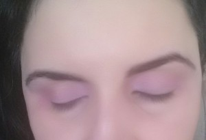 My eyes- just with a pink color.