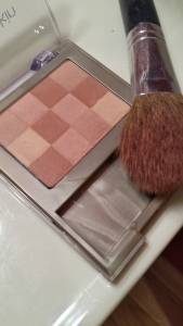 The Neutrogena bronzer. I swirl my BareMinerals brush around all of the colors and apply.