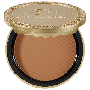 Too Faced Soleil Matte Bronzer in milk chocolate.  So pretty - I love so I like that this bronzer doesn't look too sparkly. Just Matte- need it!