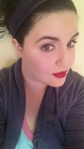 I am wearing the NARS lip color here. Love it with my pale skin!